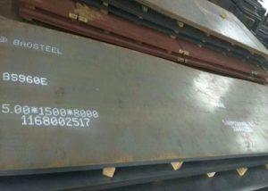960 placa de aceiro de alta resistencia
